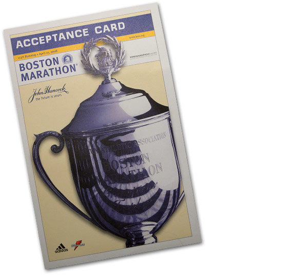 The coveted Boston Acceptance Card